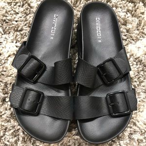 H&M Black Platform Sandals from Japan